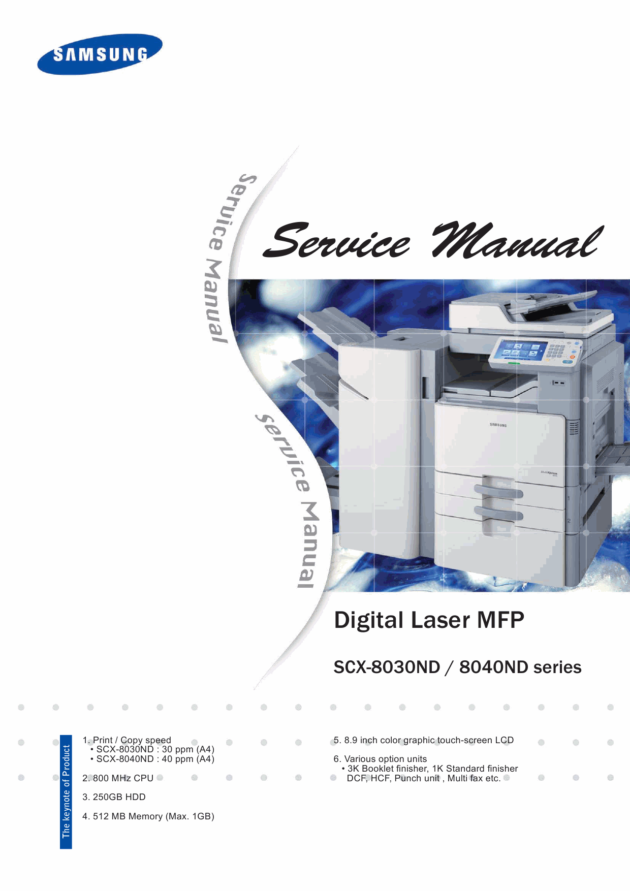 Samsung Digital-Laser-MFP SCX-8030ND 8040ND Parts and Service Manual-1